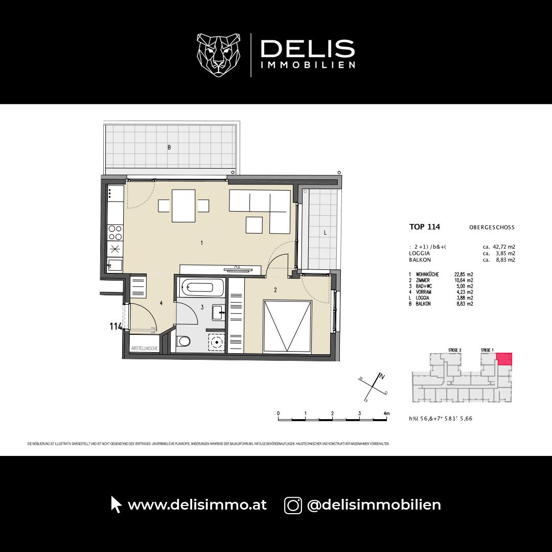 1. Obergeschoss - TOP 114