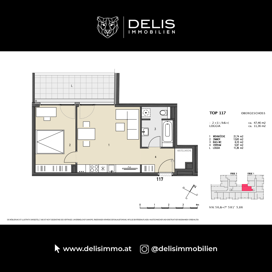 1. Obergeschoss - TOP 117