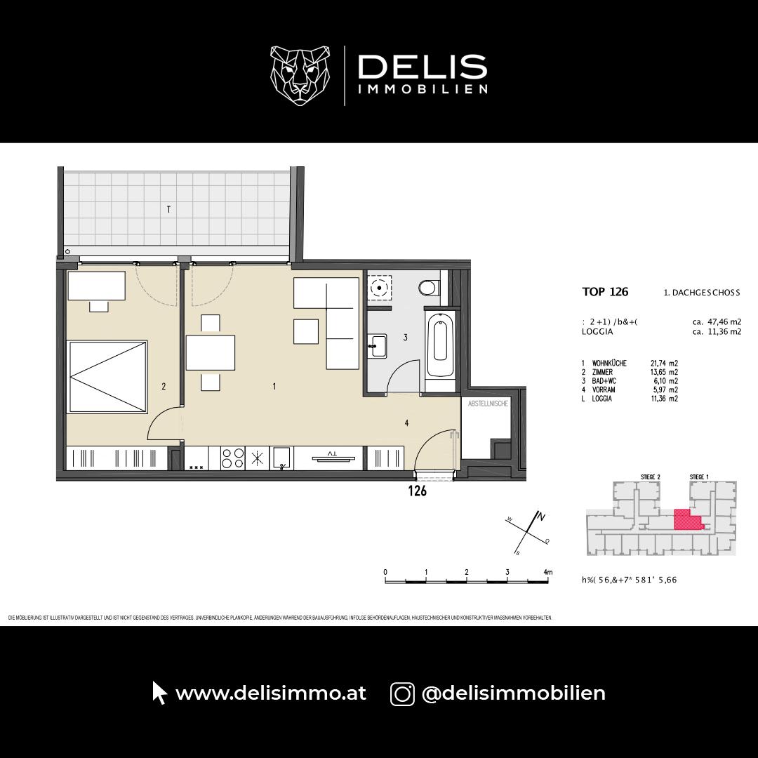 1. Dachgeschoss - TOP 126