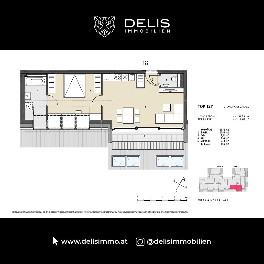 2. Dachgeschoss - TOP 127