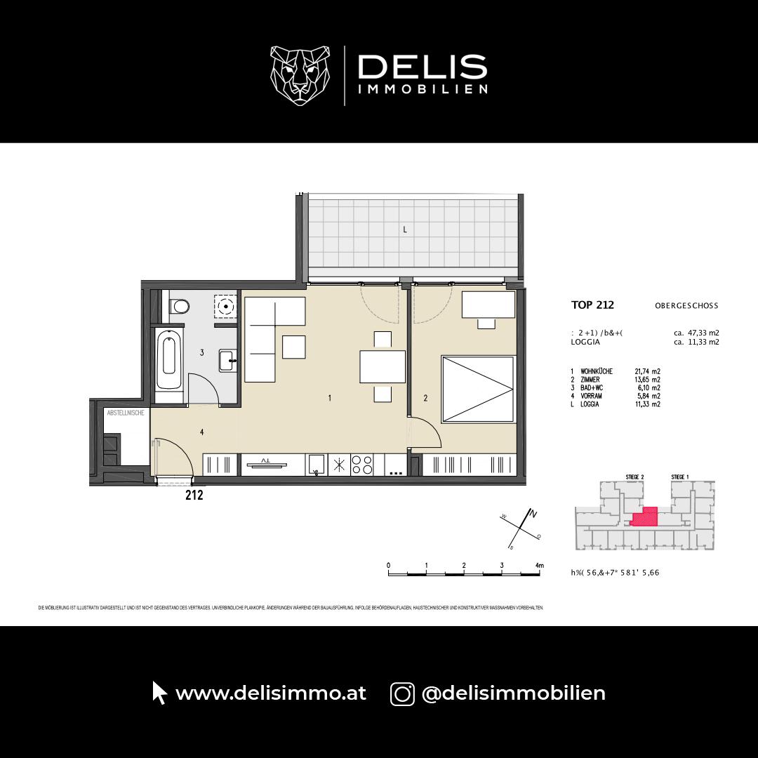 1. Obergeschoss - TOP 212