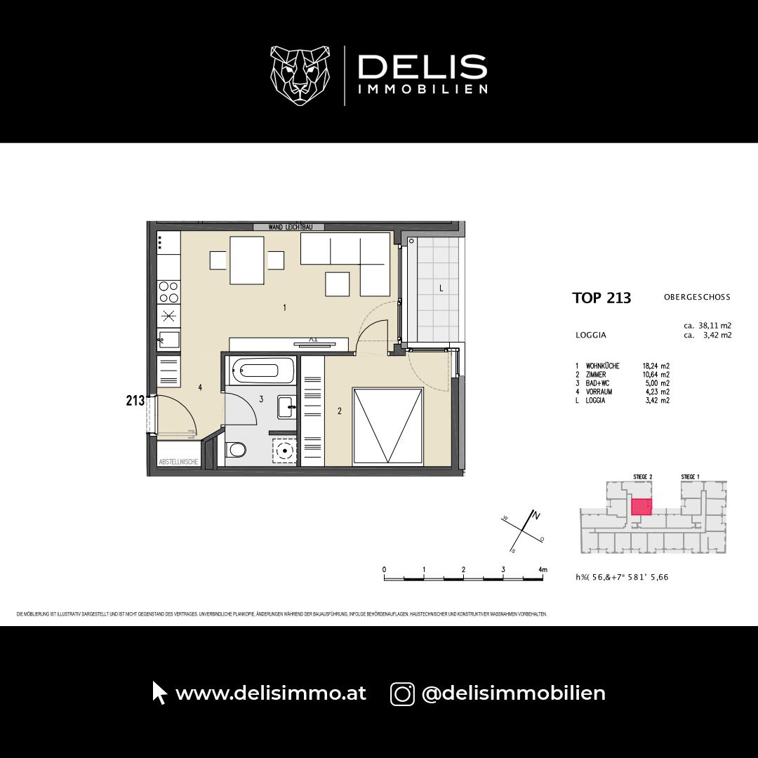 1. Obergeschoss - TOP 213