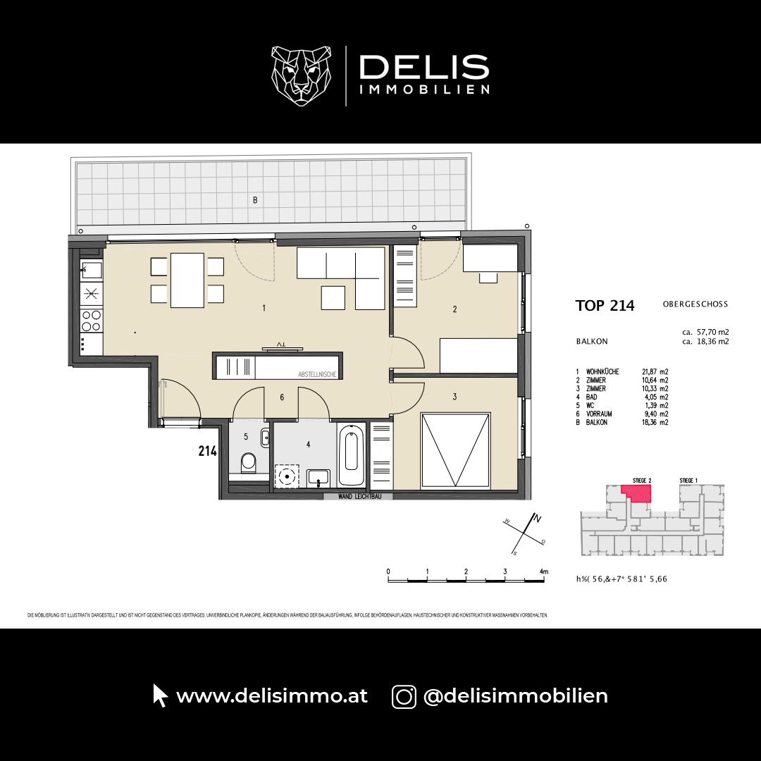 1. Obergeschoss - TOP 214