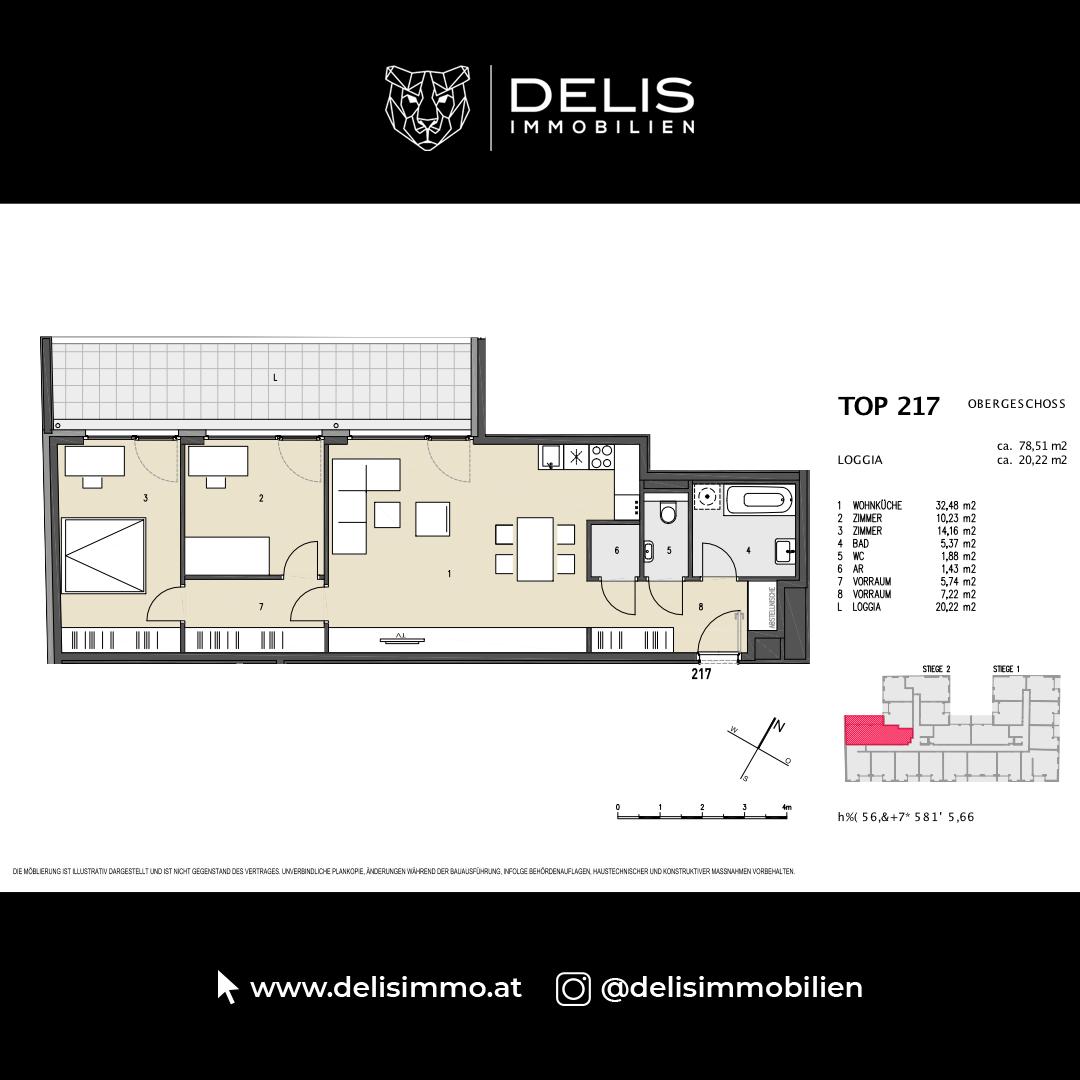 1. Obergeschoss - TOP 217