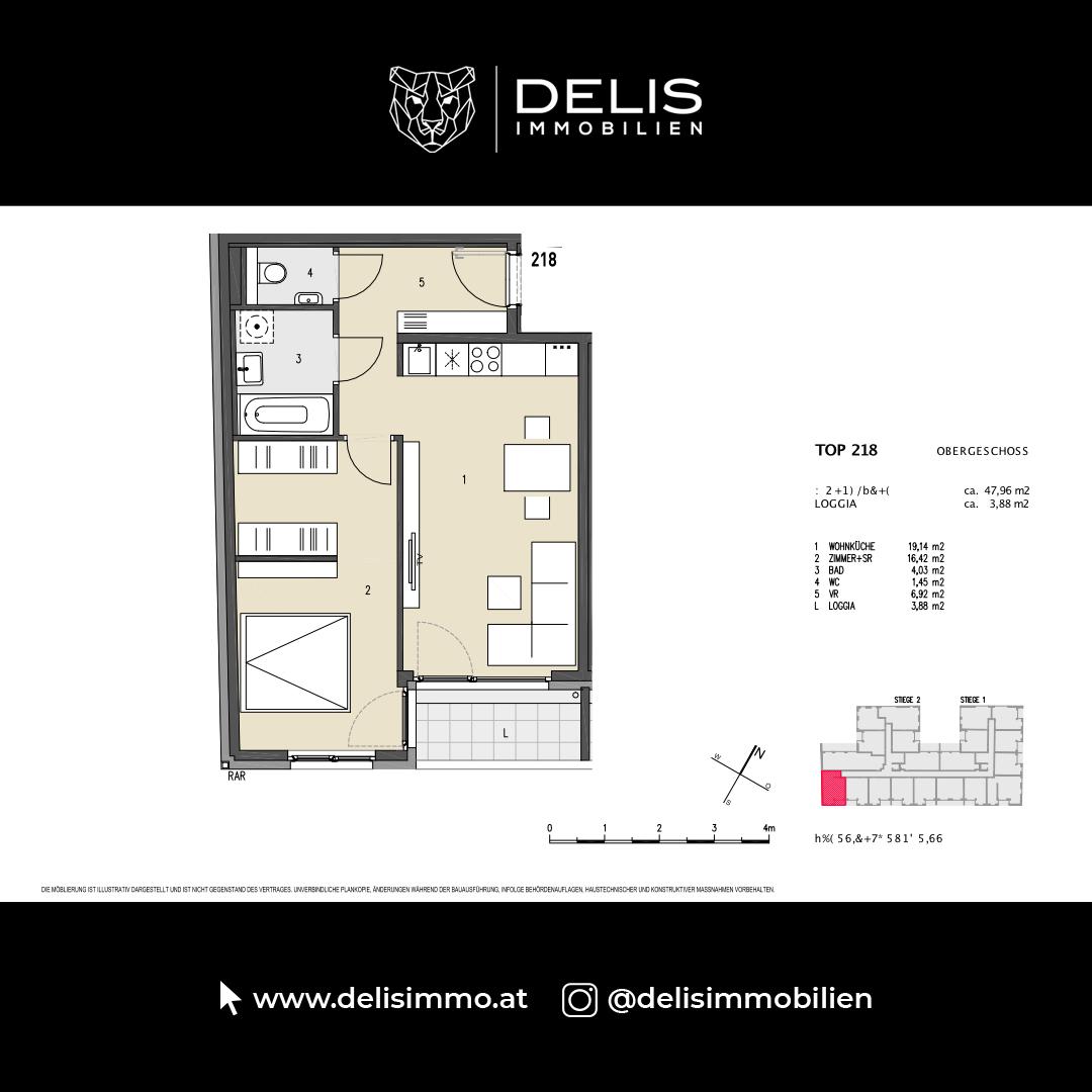 1. Obergeschoss - TOP 218
