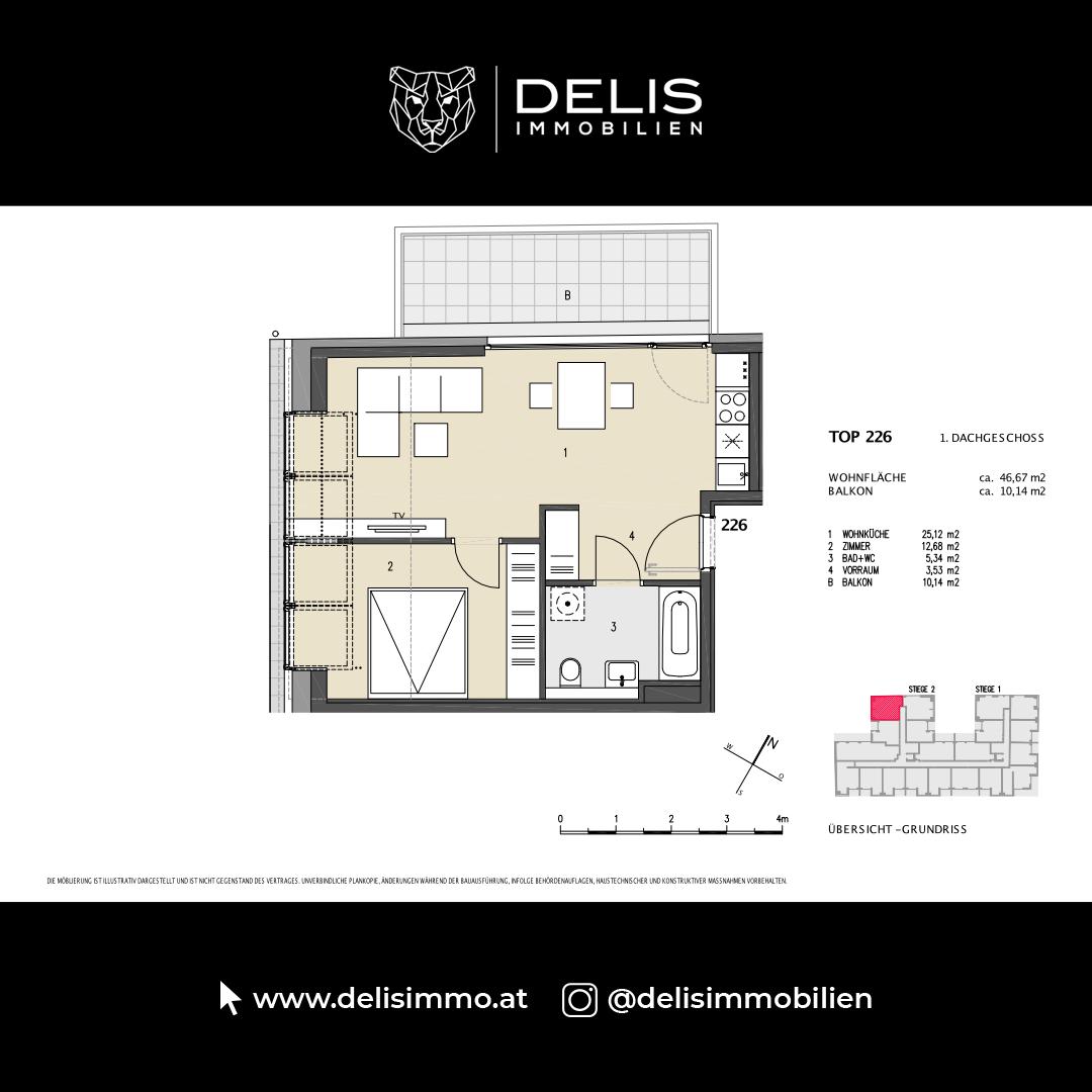 1. Dachgeschoss - TOP 226