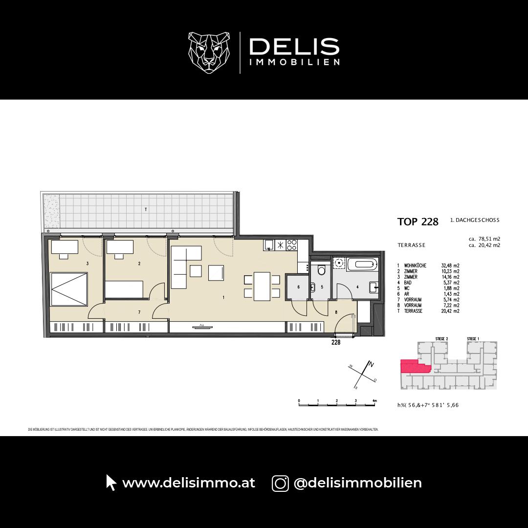 1. Dachgeschoss - TOP 228