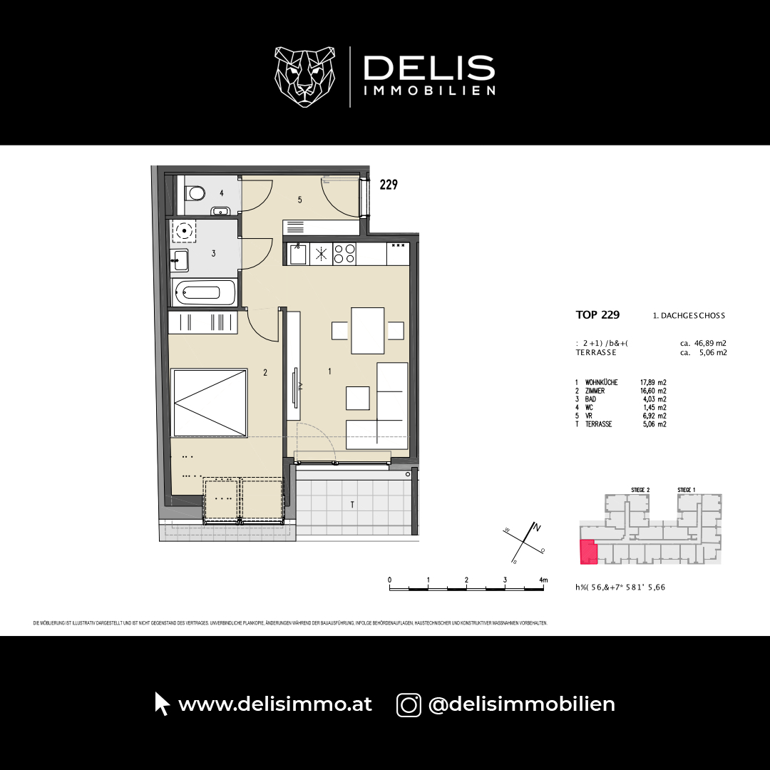 1. Dachgeschoss - TOP 229