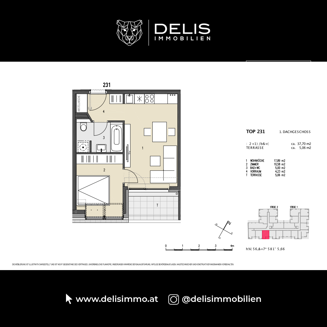 1. Dachgeschoss - TOP 231