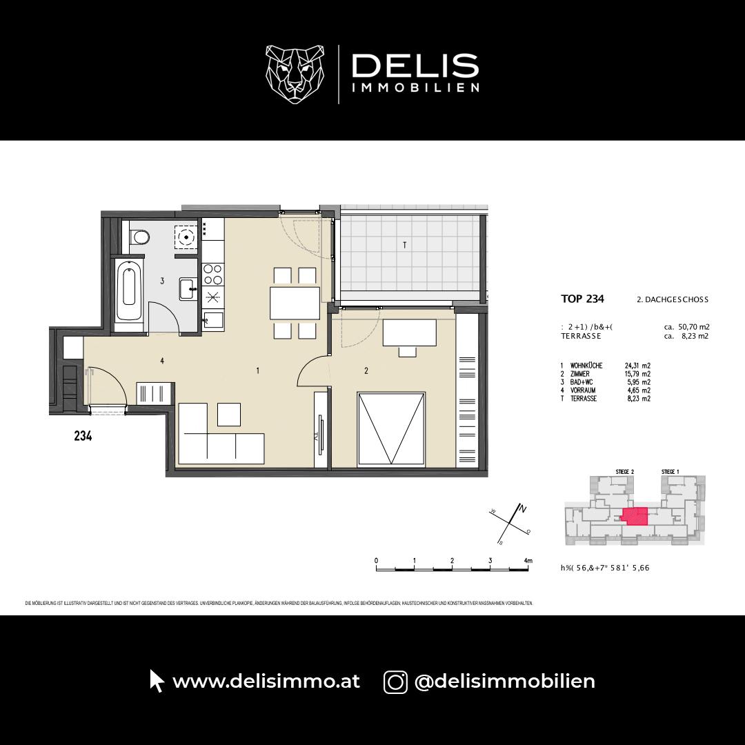 2. Dachgeschoss - TOP 234
