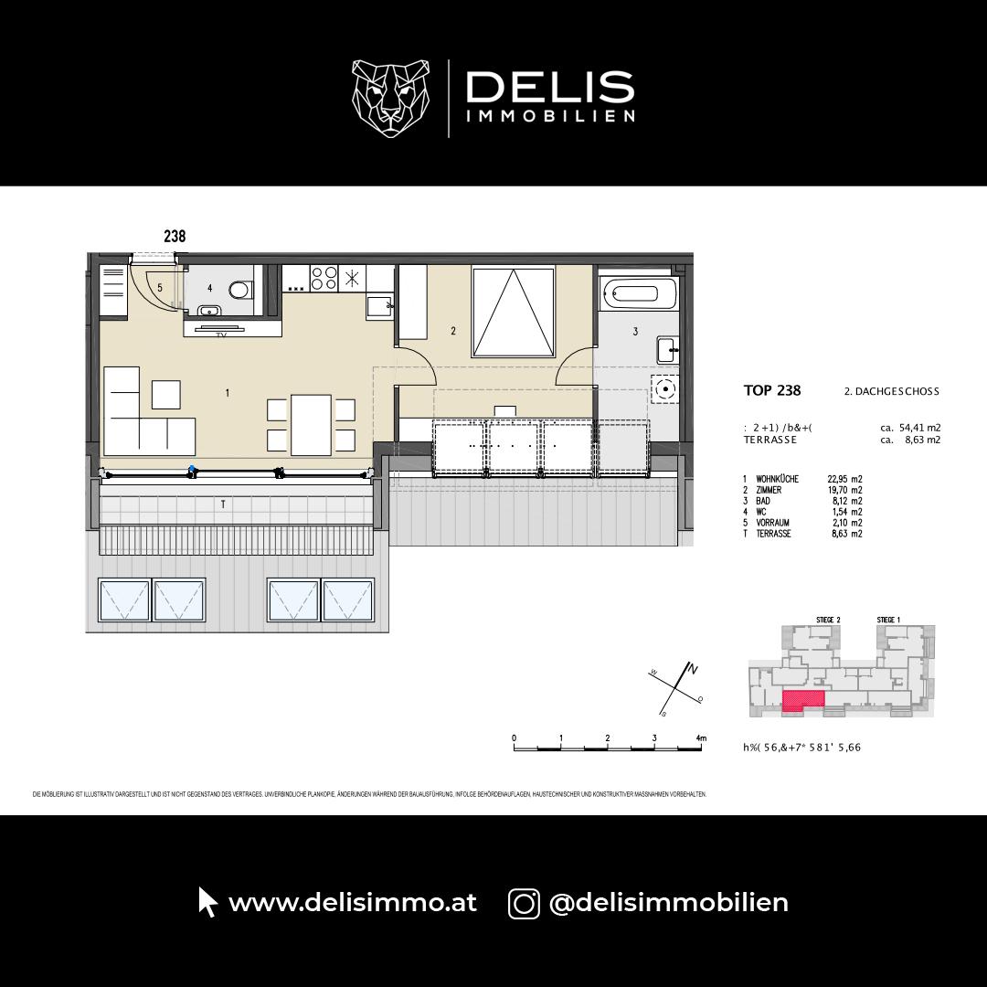 2. Dachgeschoss - TOP 238